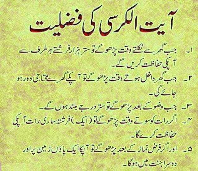 It's All About Islam: Ayat Al Kursi Ki Fazeelat