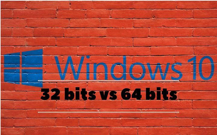 windows 10 32 bits vs 64 bits diferencias