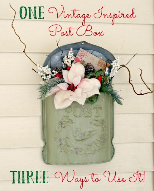 Three ways to use a vintage mailbox!