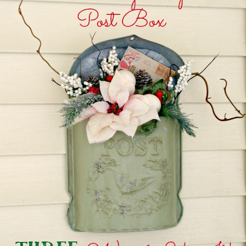 ONE Vintage Inspired Post Box, THREE Ways to Use It! (And a Giveaway!)