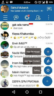 BBM Simple Blue v4 by Sahrul Mubarok