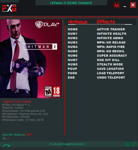 Download Hitman Absolution Trainer 1.0.433