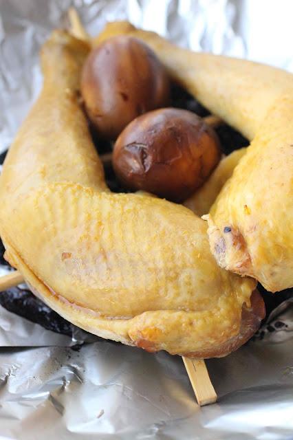 fumer cuisses de poulet au wok