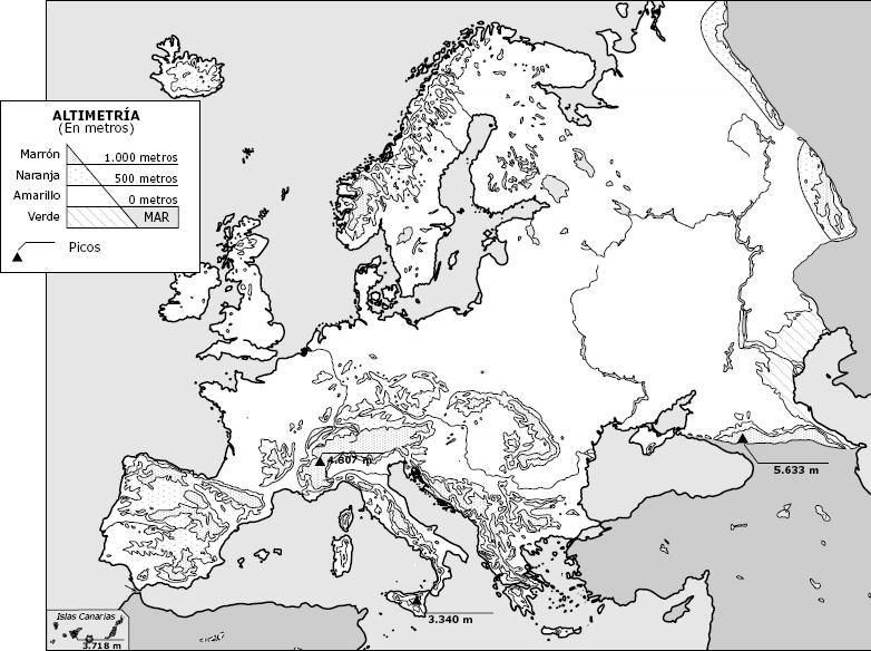 Mapa De Europa Más De 250 Imágenes De Calidad Para Imprimir