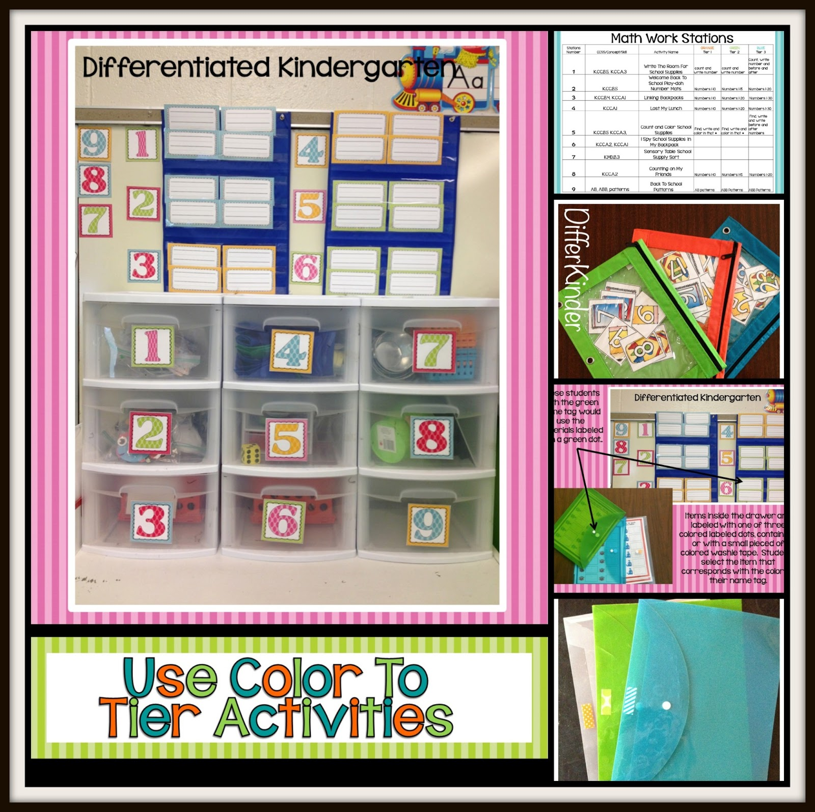 Using Color To Help You Tier Differentiated Activities