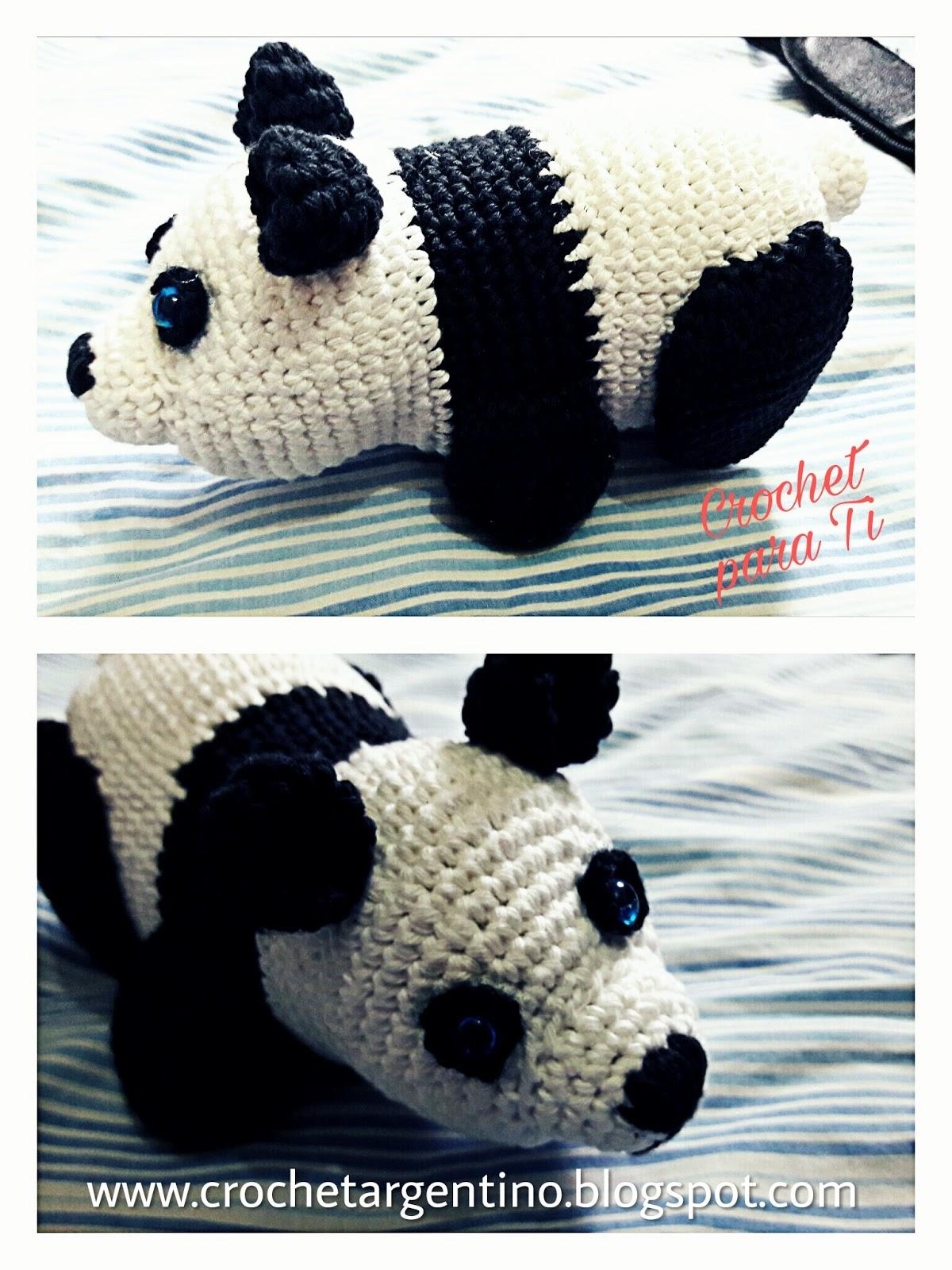 Osito Panda - Amigurumi - Patrón Español ~ Crochet para Ti