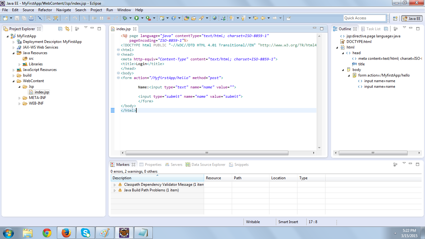Servlet example programs in eclipse - InstanceOfJava