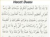 Hacet Duası Okunşu Türkçe Anlamı Fazileti