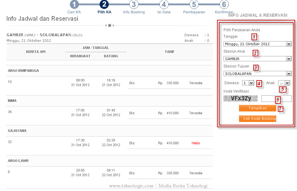 Daftar Harga Tarif Kereta Api | Jadwal Dan Cara Pemesanan