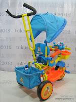 4 Sepeda Roda Tiga GoldBaby Pororo Eddy in Orange and Blue