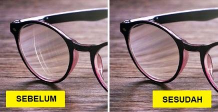 Tips jitu menghilangkan goresan pada kacamata