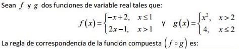 Ejercicio resuelto Composición de funciones