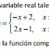 Composición de funciones de variable real.