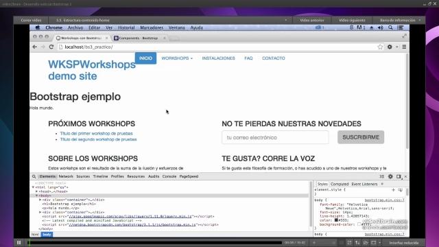 Curso [Desarrollo Web con Bootstrap 3] [Diseña y maqueta una