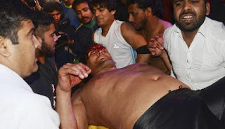 khali injured in a fight