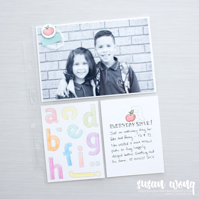 Lined Alphabet by Stampin' Up! Pocket Page - Susan Wong