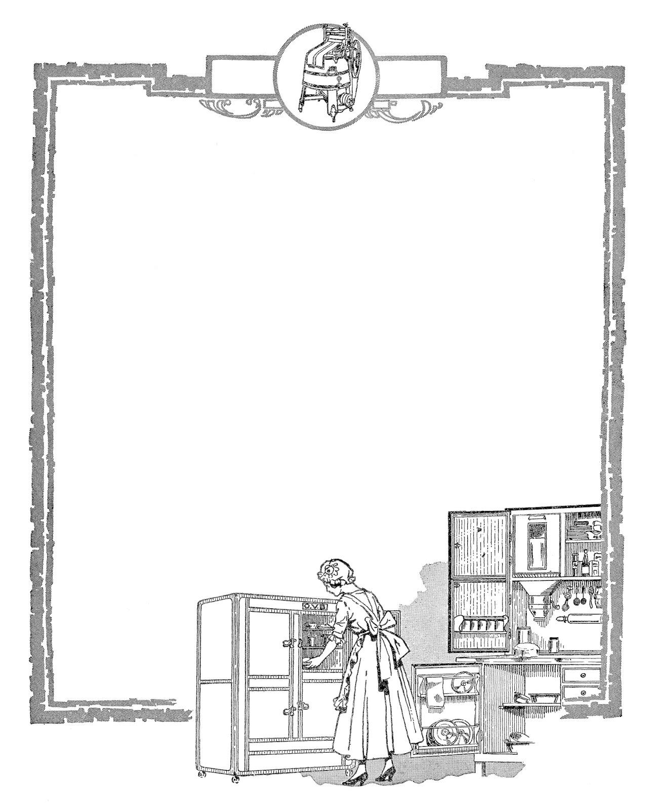 Kitchen Pictures Frames: Antique Images: Scrapbooking Digital Kitchen Download