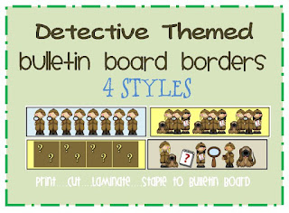 detective bulletin board borders
