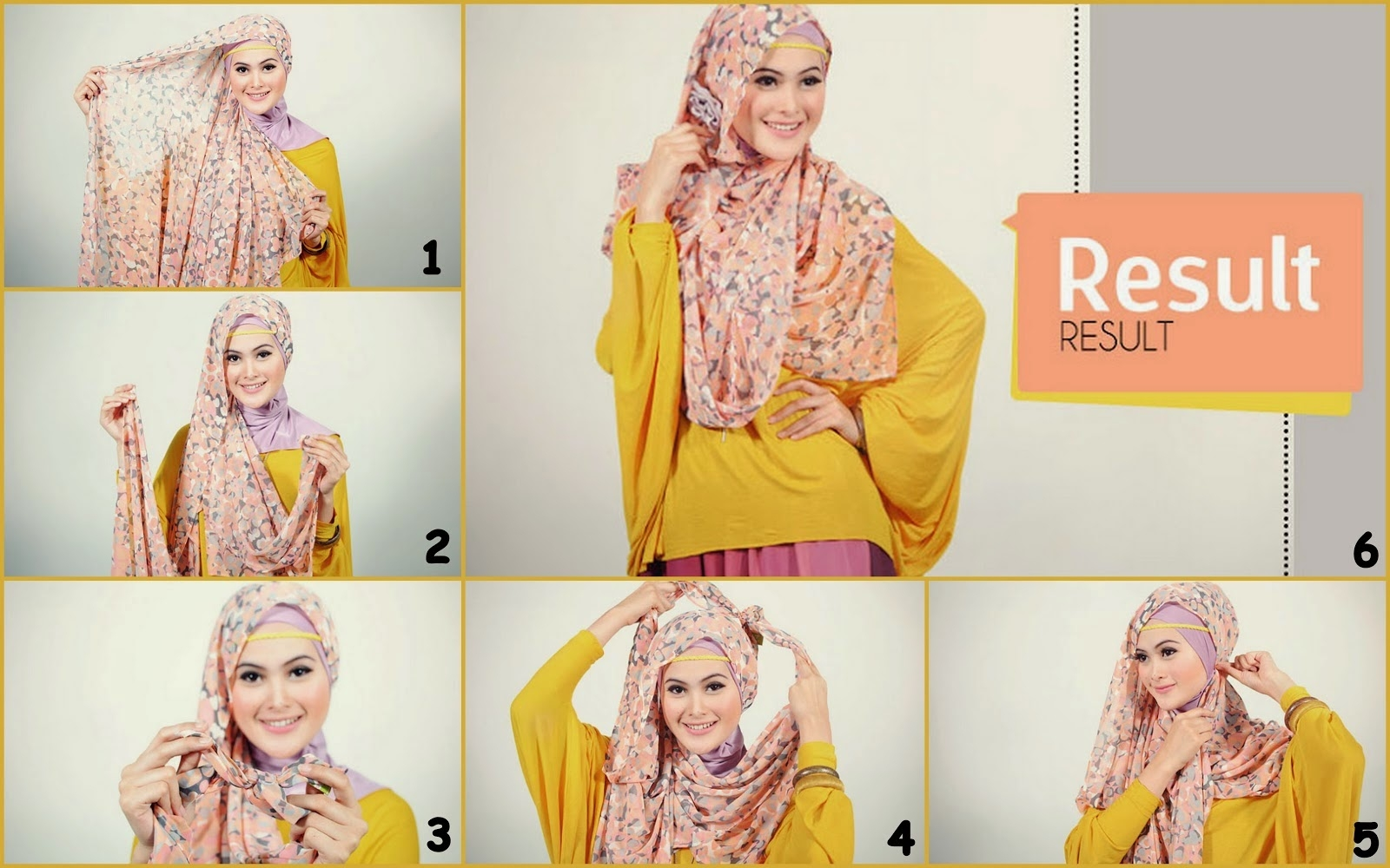 Tutorial Hijab Pashmina Bahan Sifon Motif Bunga Toturial Hijab