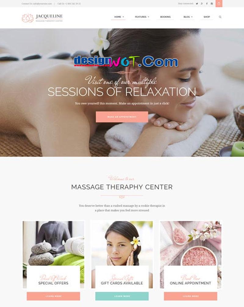 Jacqueline Spa and Massage Salon Theme