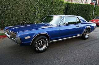 1970 Mercury Cougar Eliminator Blue Front Side