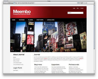 Free Meembo-Red Business Style Joomla 1.7 Template
