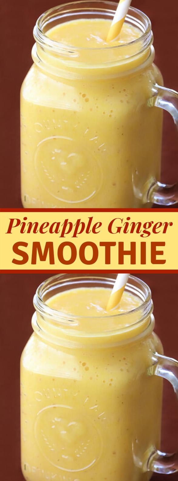 PINEAPPLE GINGER SMOOTHIE #gingerdrink #vegetarian