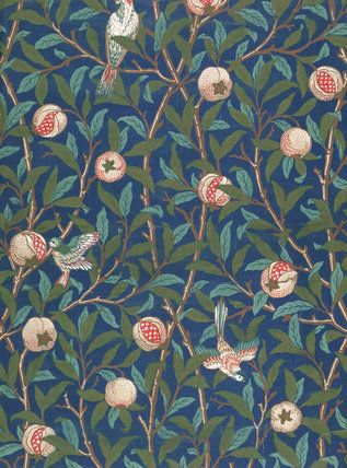 William Morris  Wallpaper design;Bird and Pomegranate