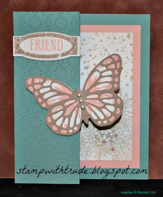 Watercolor Wings, Trude Thoman, stamp with trude, Stampin' Up!, Fancy Fold, Tuesday Tutori