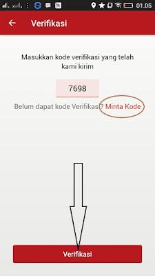 cara verifikasi kode dari Aplikasi Roli Telkomsel