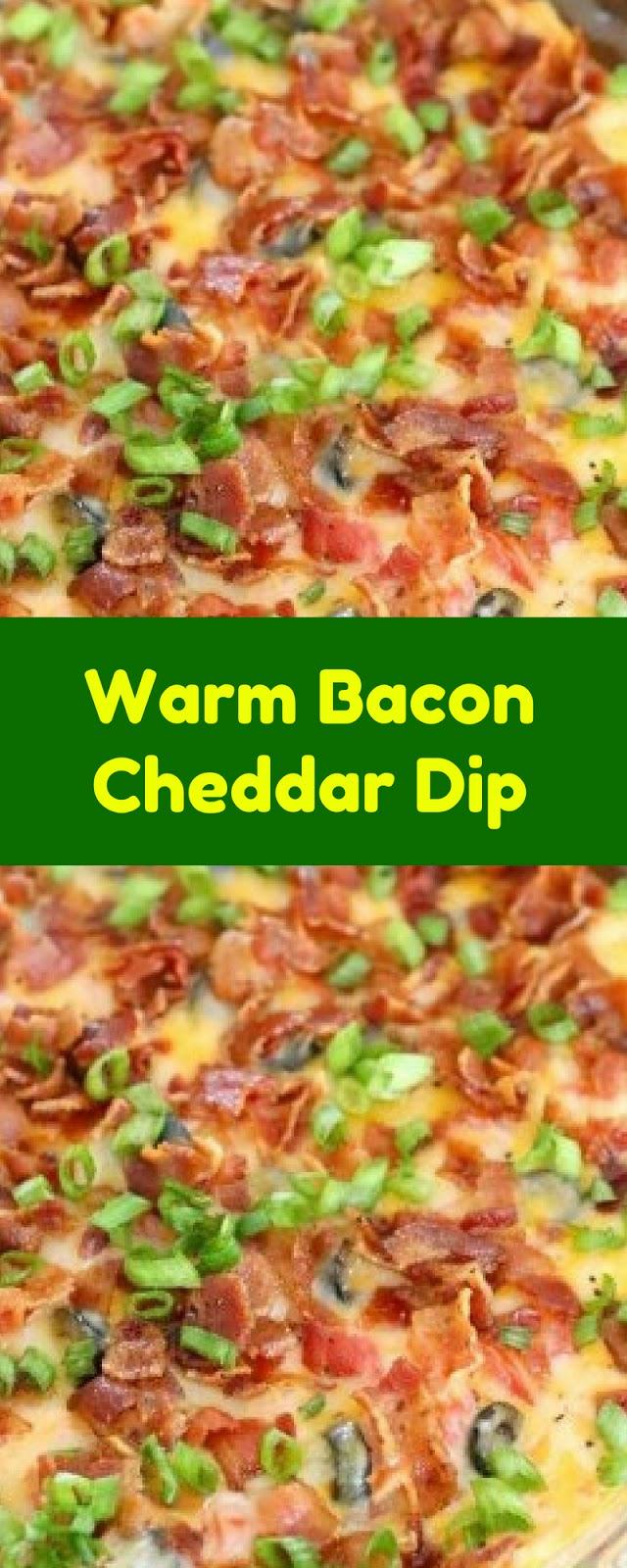 Warm Bacon Cheddar Dip - Cookies Cooking Corner