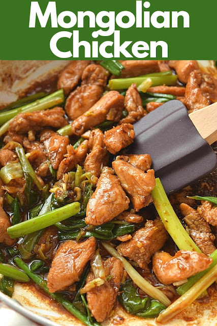 A pan with delicious Mongolian Chicken