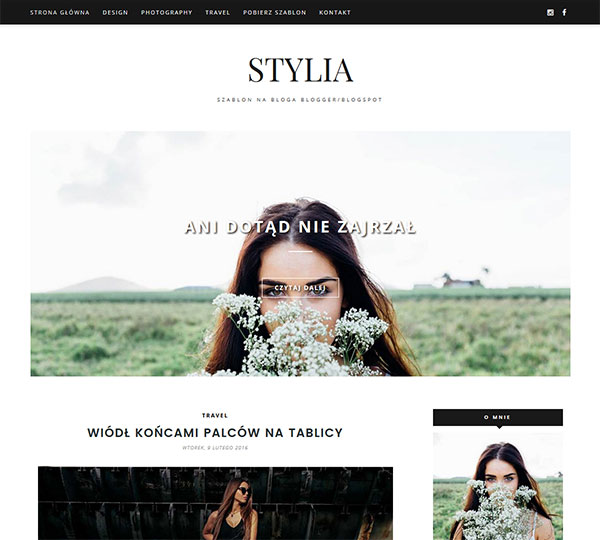 Szablon Blogspot/Blogger: STYLIA