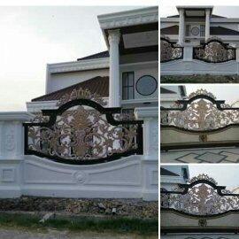 Model Pagar Besi Tempa Terbaru dengan desain khusus ornamen alferon besi tempa