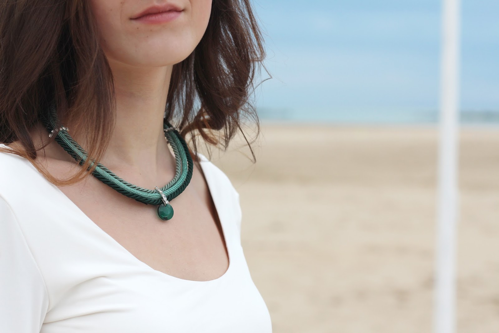 collana verde green necklace Charme Bijoux