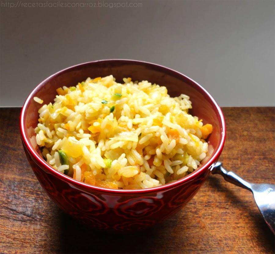 arroz vegano vegetariano
