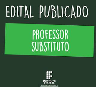 IFRN abre edital para professor substituto