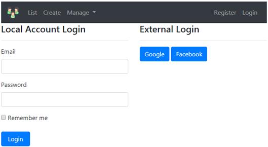 asp.net core facebook login