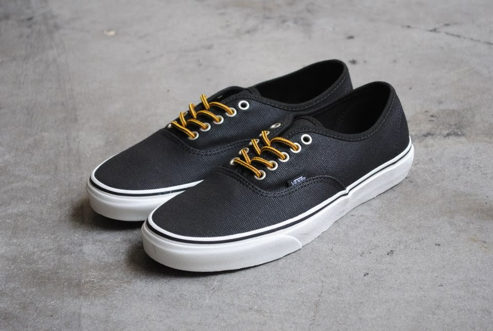 3935ada4c6 ... from Vans is the duo in classic black and duck camo. Both feature a  unique waxed canvas upper than ensures lightweight and water repellent  features.