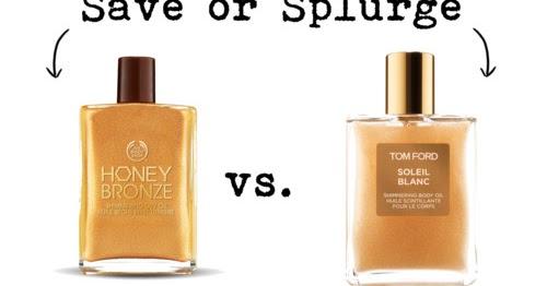 save $ or splurge $$$ tom ford shimmering body oil - frugal