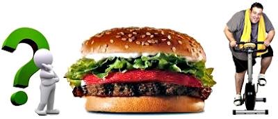 Hamburguesa obeso quemar grasa carbs