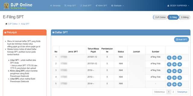cara registrasi e-filling atau djp online