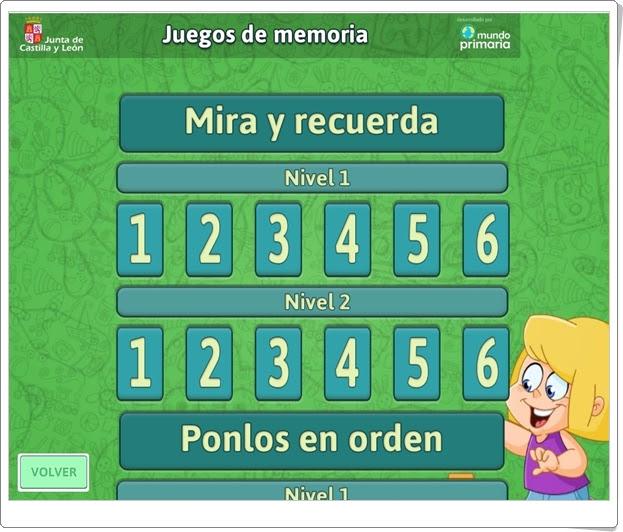 """""""Juegos de Memoria"""" (Vacaciones de Verano de Infantil)"""