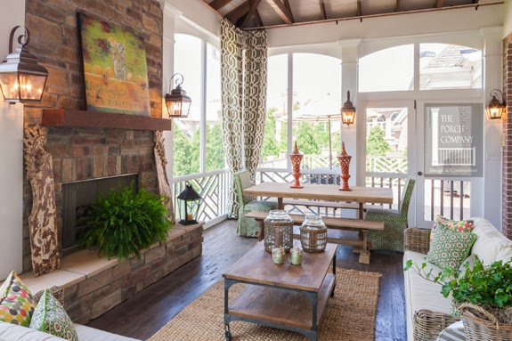 Screened Porches Fireplaces