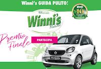 Logo Winni's guida pulito e vinci 1000 giftbox colme di prodotti e Smart elettrica