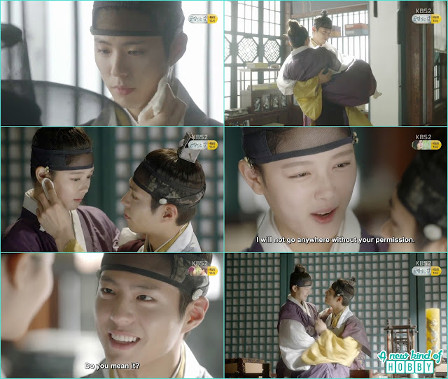 crown prince lift ra on in his arms and romantically treat her as the precious women - Love In The Moonlight - Episode 12 Review