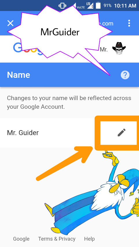 change name in google gmail account on android 5 steps with pictures