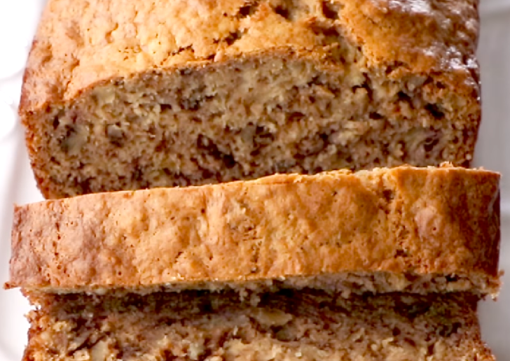 Perfectly Sweetened, Super Moist and Delicious Banana Nut Bread