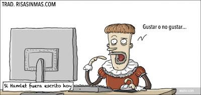 Meme de humor sobre Hamlet en las redes sociales