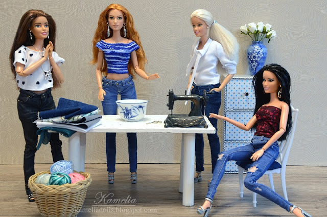 Handmade realistic clothes for Barbie dolls